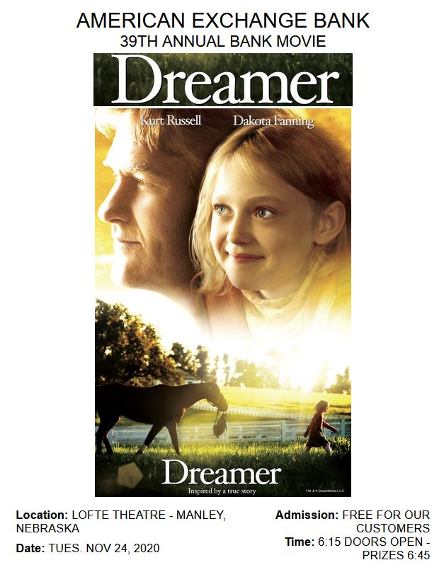 Dreamer Movie flyer 2020