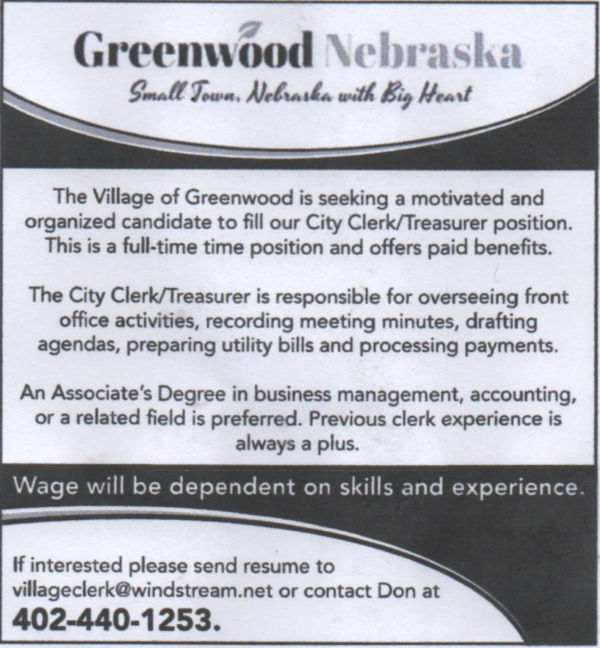 help wanted Greenwood